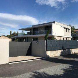 Construction villa contemporaine